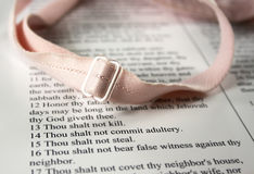 Thou shalt not commit adultery. Part of the Decadent Decalogue series stock photo