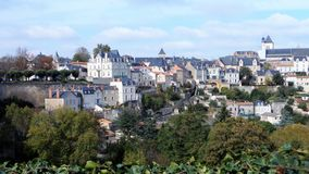 Thouars. A nice town is in the west of France. Royalty Free Stock Image