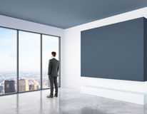 Thoughful man in room Royalty Free Stock Images
