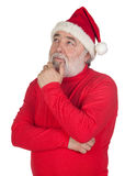 Thoughful Santa Claus Stock Photo