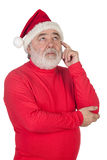 Thoughful Santa Claus Stock Image