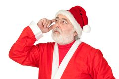 Thoughful Santa Claus Royalty Free Stock Images