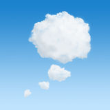 Thought bubble. White clouds in shape of a thinking bubble Stock Image