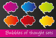 Thought bubbles Stock Photo
