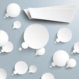 Thought Bubbles Banner Infographic Royalty Free Stock Images