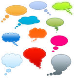 Thought Bubbles Icons Stock Images