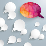 Thought Bubbles Low Poly Speech Bubbles Royalty Free Stock Photo