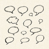 Thought bubbles on of a sheet of lined paper Royalty Free Stock Photography