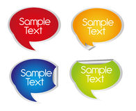 Thought bubbles stickers Royalty Free Stock Photography