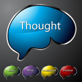 Thought Buttons stock illustration