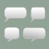 Thought frame. Speech bubble. Dream cloud. Talk balloon. Quote box.  Set of vector illustration icons. Stock Photography