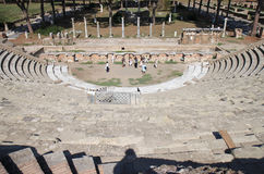Ruins of Amfitheatre, Ostia Antica, Italy Royalty Free Stock Images