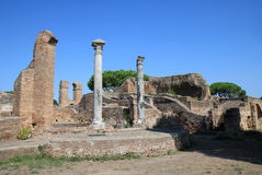 View over the palaestra in Ostia Antica, Italy Stock Photography