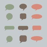 Thought , speech bubble. Dream cloud. Talk balloon. Quote box.  Royalty Free Stock Photo