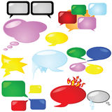 Thought and speech bubbles Stock Photo