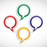 Thought and speech bubbles Stock Image
