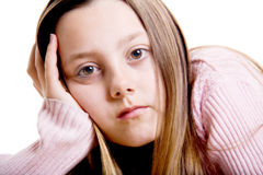 Thoughtful adolescent girl Stock Images