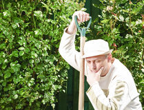 Worried gardener Stock Photography