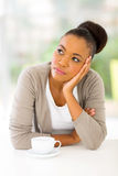 Thoughtful africa woman Royalty Free Stock Image