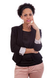 Thoughtful african american business woman - Black people Stock Photography