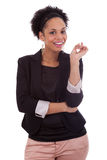 Thoughtful african american business woman - Black people Stock Photos