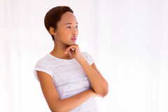 Thoughtful african american girl Royalty Free Stock Photos