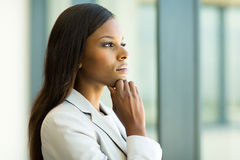 Free Thoughtful African Businesswoman Royalty Free Stock Photography - 52849417