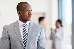 Thoughtful afro american businessman Royalty Free Stock Photos
