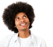 Thoughtful afro man Royalty Free Stock Images