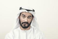 Thoughtful Arabian Businessman, Arabian Businessman confused.  Stock Photos