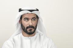 Thoughtful Arabian businessman, Arabian businessman thinking Stock Photography