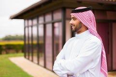 Thoughtful arabian man Stock Photos