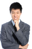 Thoughtful Asian businessman Royalty Free Stock Photography