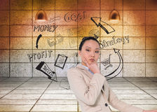Thoughtful asian businesswoman Stock Photos
