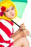 Thoughtful asian girl Stock Photos