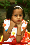 Thoughtful Asian girl Stock Photo