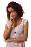 Thoughtful asian woman Stock Image