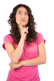 Thoughtful attractive brunette posing Stock Images
