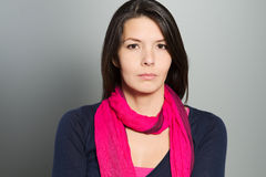 Thoughtful attractive woman with a serene face Royalty Free Stock Images