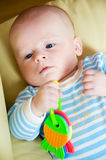 Thoughtful baby Stock Photography