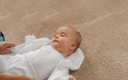 Thoughtful baby Royalty Free Stock Images