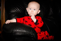 Thoughtful Baby Royalty Free Stock Image