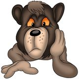 Thoughtful bear Stock Images
