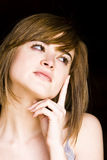 Thoughtful beauty Stock Images