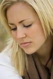 Thoughtful Beauty Stock Photo