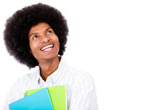 Thoughtful black student Royalty Free Stock Photography
