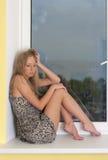 Thoughtful blonde Stock Image