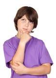 Thoughtful boy Stock Photo