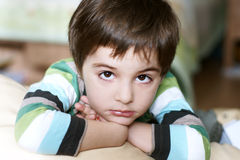Thoughtful boy Stock Photos
