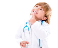 Thoughtful boy doctor Royalty Free Stock Photography